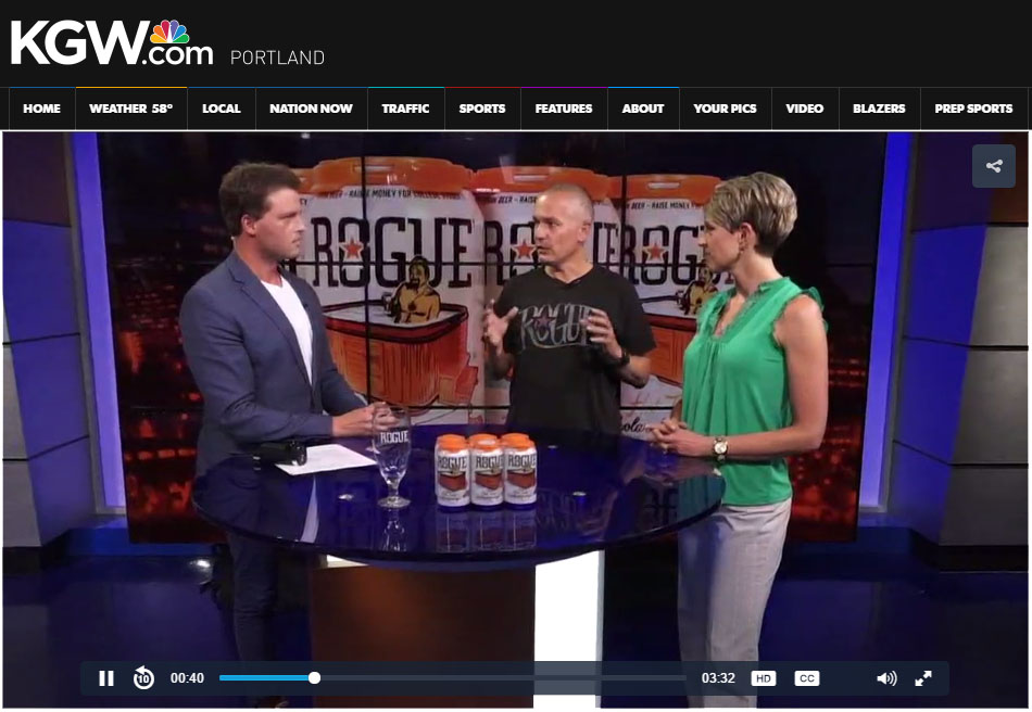 Rogue's Brett Joyce and Columbia's Lindsi Taylor talk beer for scholarships