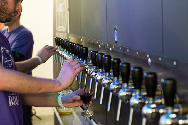 Photo Of Beer Being Served At A Beer Festival  -Columbia Distributing