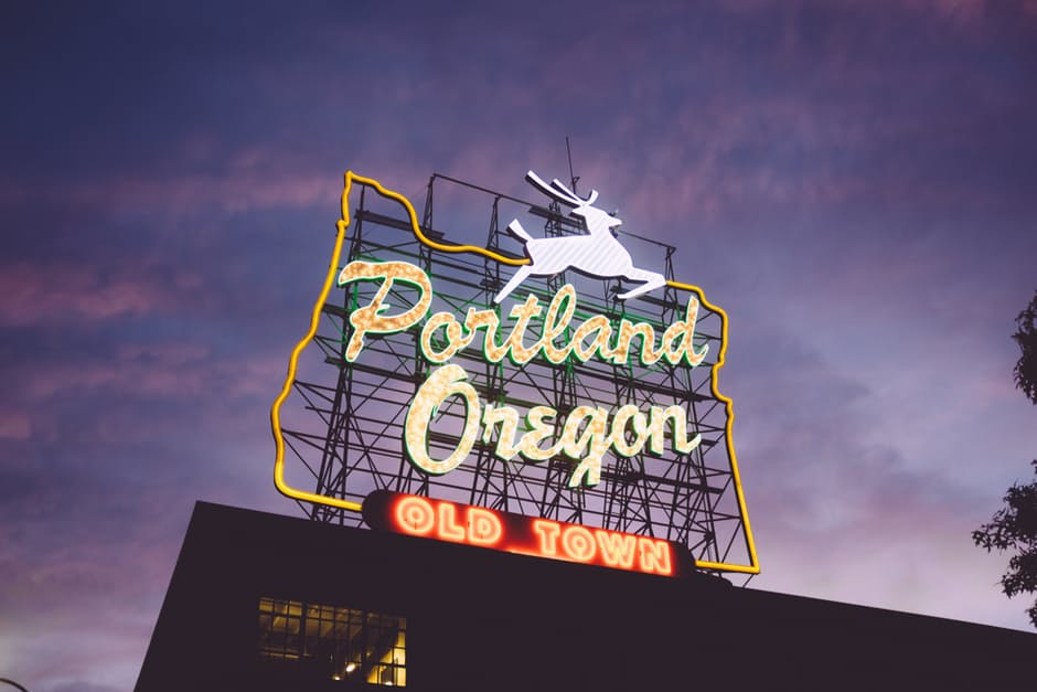 famous portland oregon neon sign