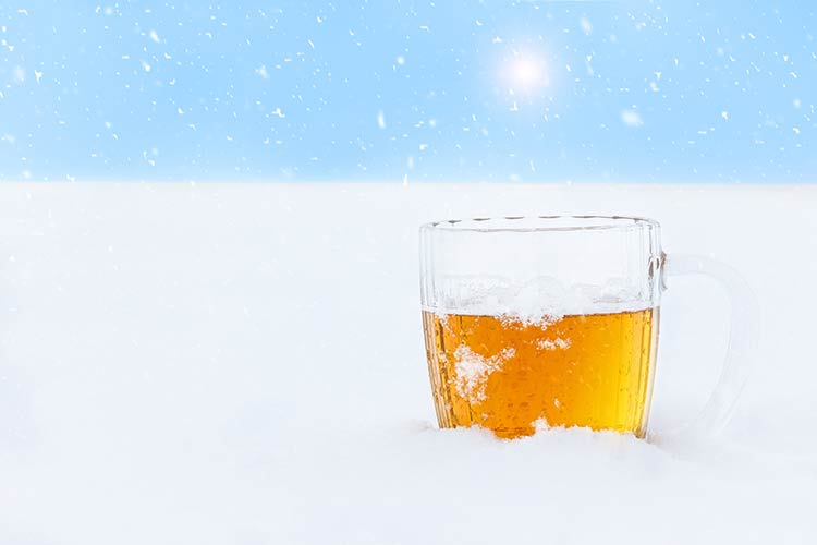 Winter Ale in Snow- Columbia Distributing