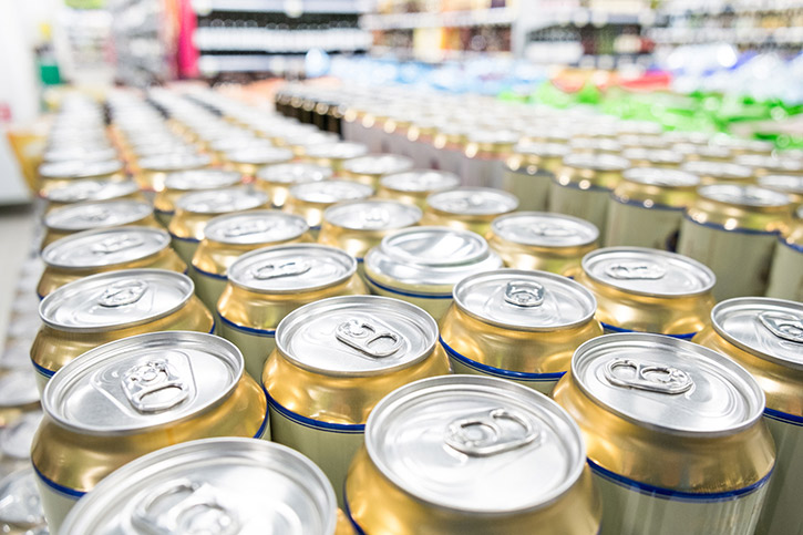 Cans In A Supermarket