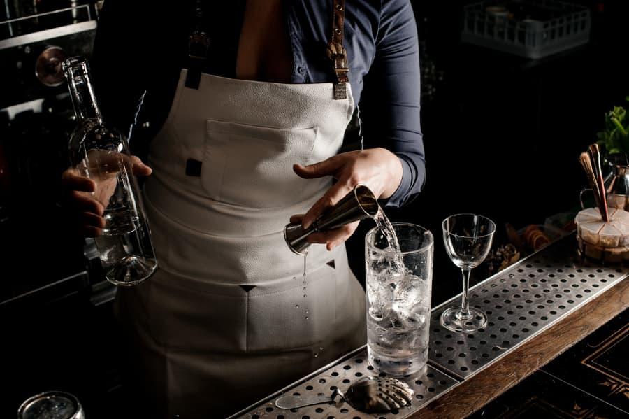Bartender Fixes A Vodka Drink
