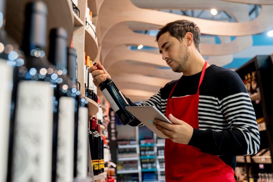Store Employee Ordering Wine