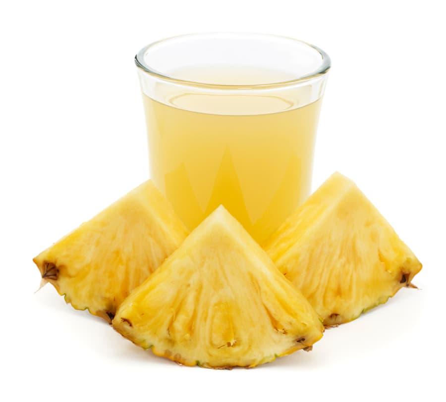 Glass of pineapple juice